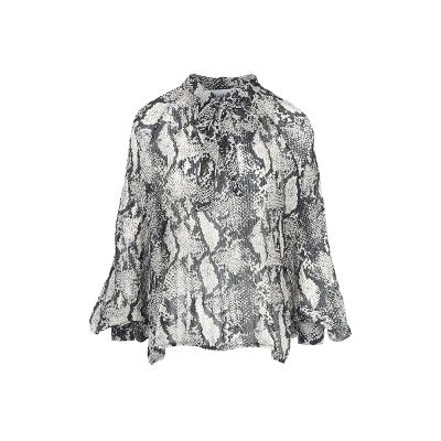 python flare detail blouse